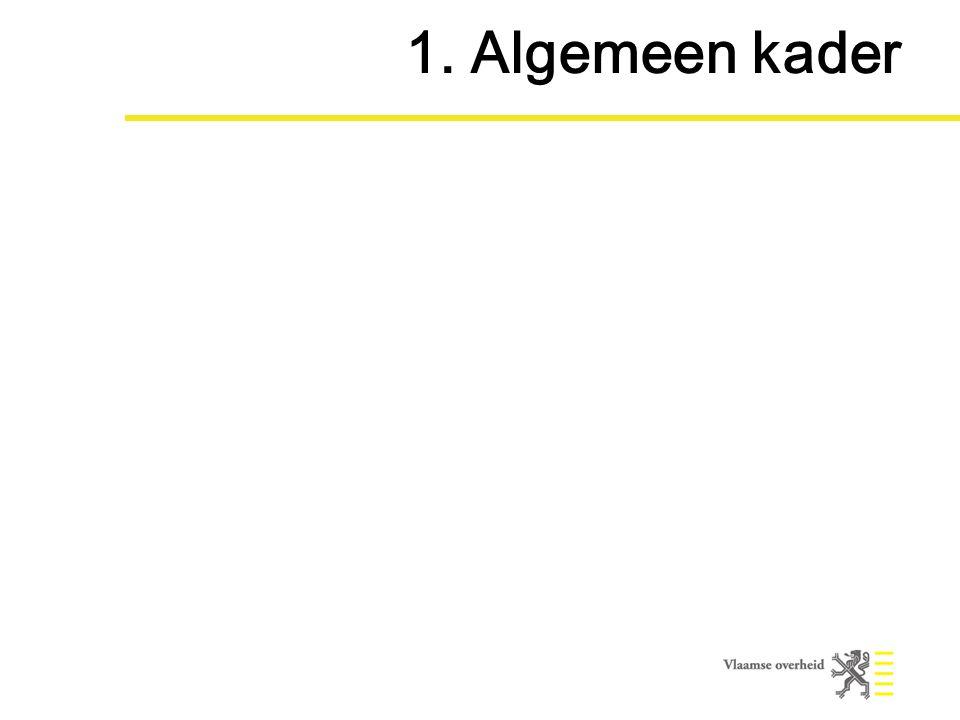 1. Algemeen kader