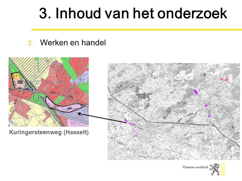 Kuringersteenweg (Hasselt) 3. Inhoud van het onderzoek 2. Werken en handel
