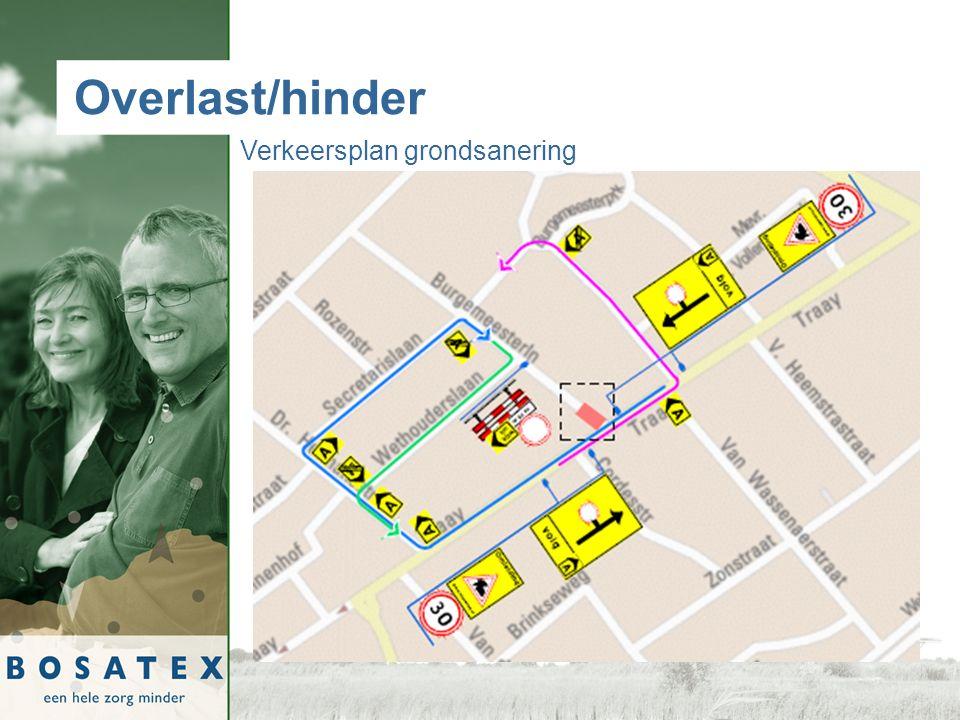 Overlast/hinder Verkeersplan grondsanering