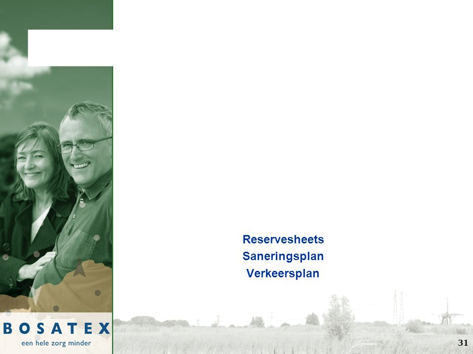 Reservesheets Saneringsplan Verkeersplan 31