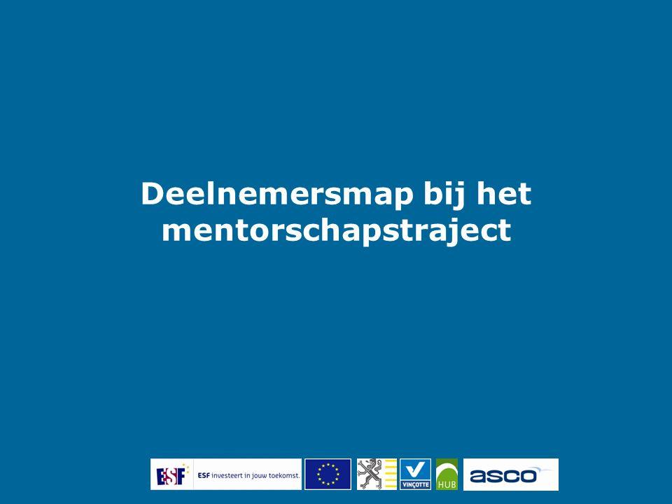 Deelnemersmap bij het mentorschapstraject