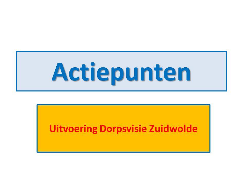 Actiepunten Uitvoering Dorpsvisie Zuidwolde