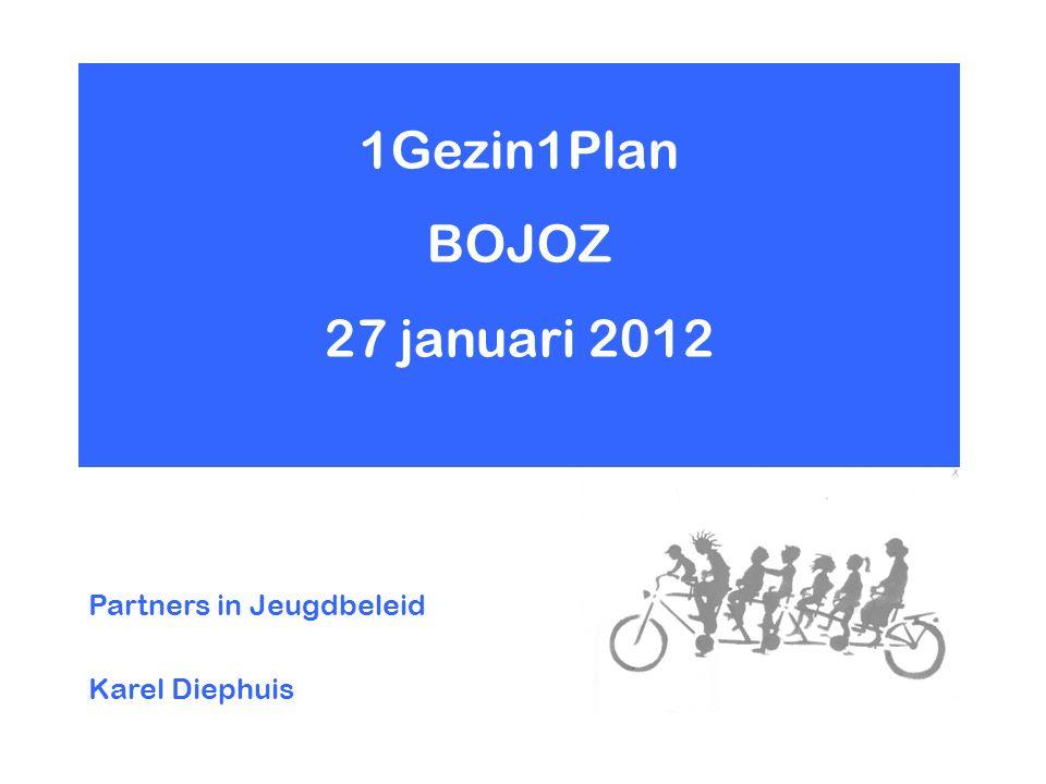 1Gezin1Plan BOJOZ 27 januari 2012 Partners in Jeugdbeleid Karel Diephuis