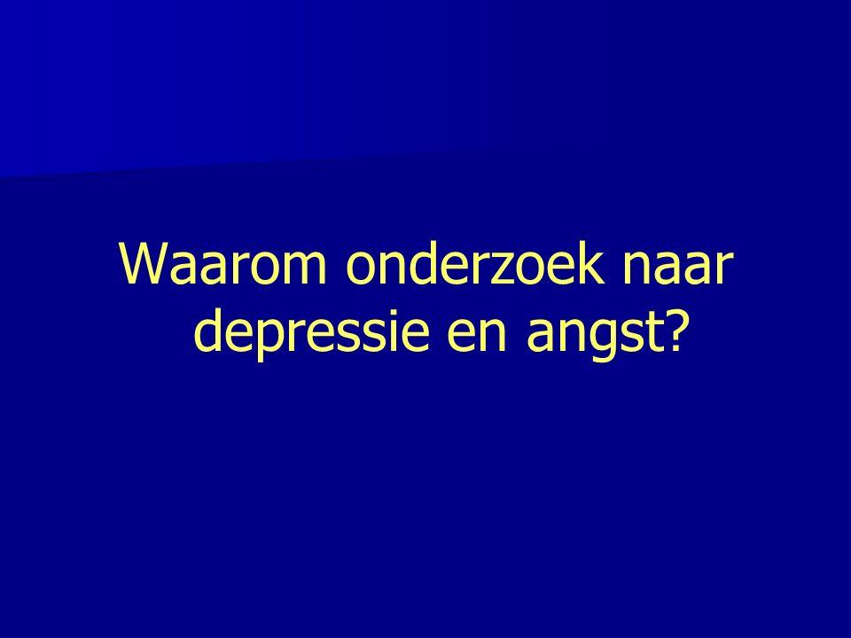 Waarom onderzoek naar depressie en angst?