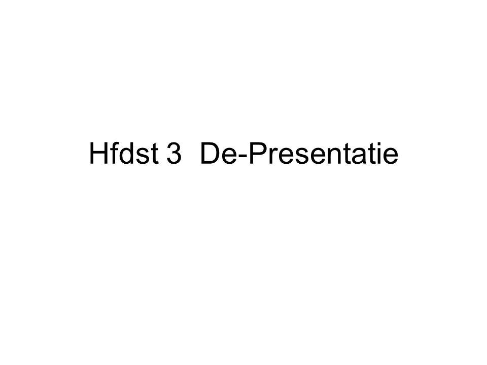 Hfdst 3 De-Presentatie
