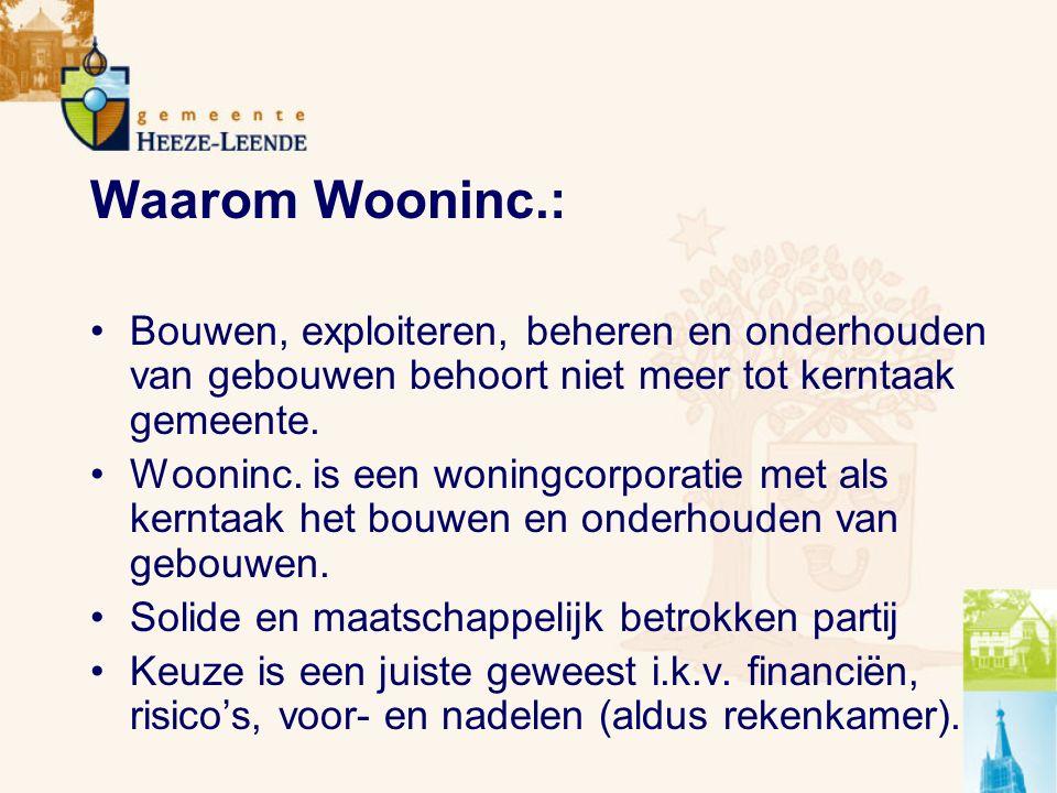 Waarom Wooninc.: Bouwen, exploiteren, beheren en onderhouden van gebouwen behoort niet meer tot kerntaak gemeente.