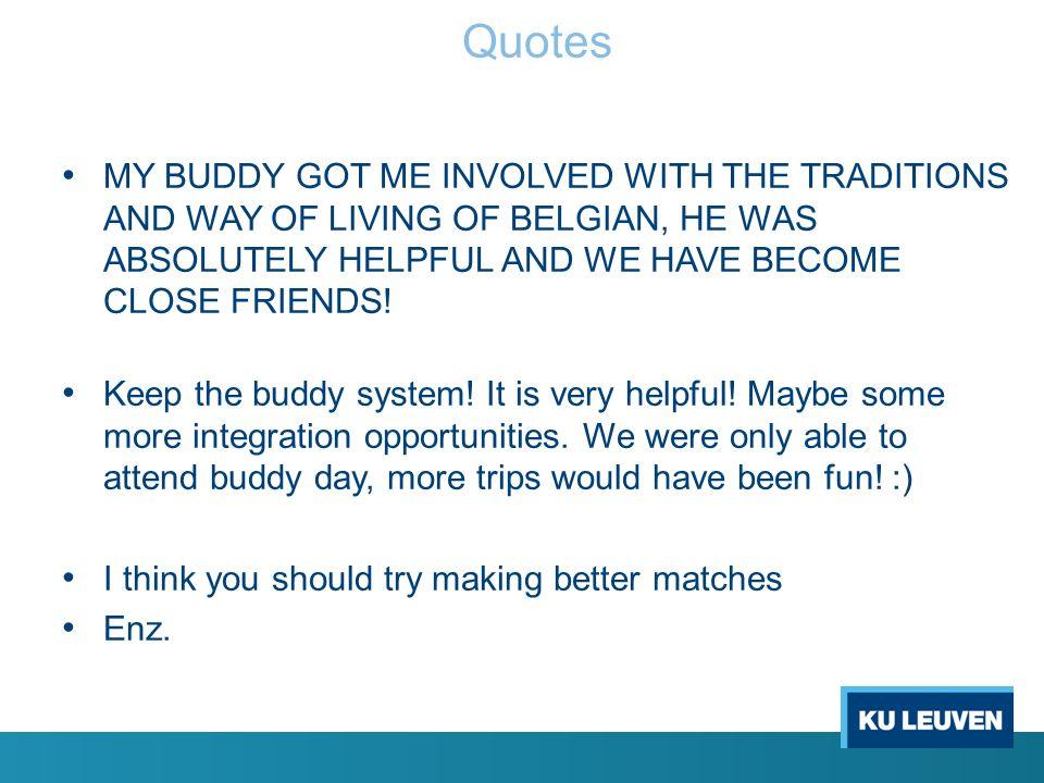 Buddy Programma: waarom.