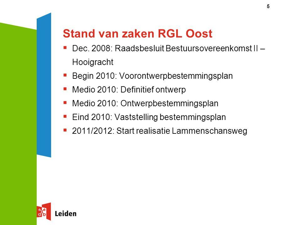 5 Stand van zaken RGL Oost  Dec.