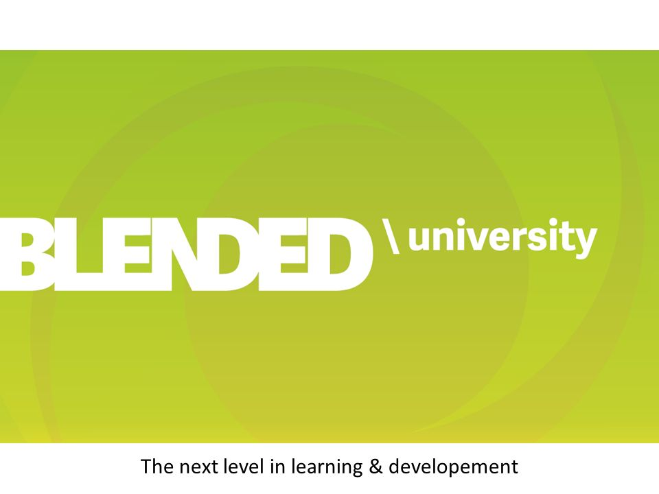 The next level in learning & developement