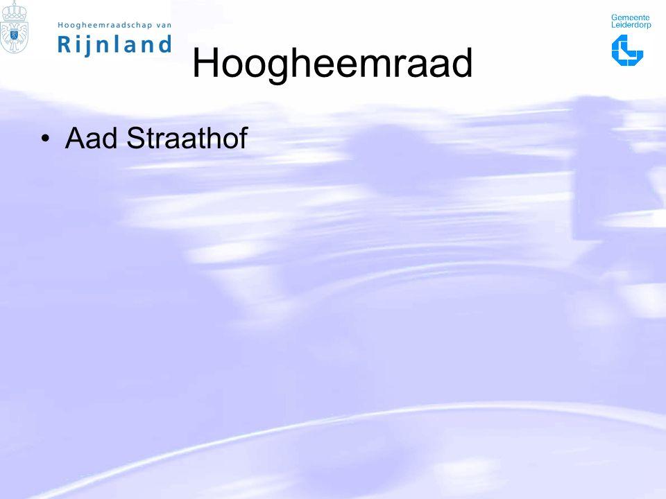 Hoogheemraad Aad Straathof