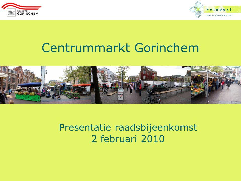Centrummarkt Gorinchem Presentatie raadsbijeenkomst 2 februari 2010