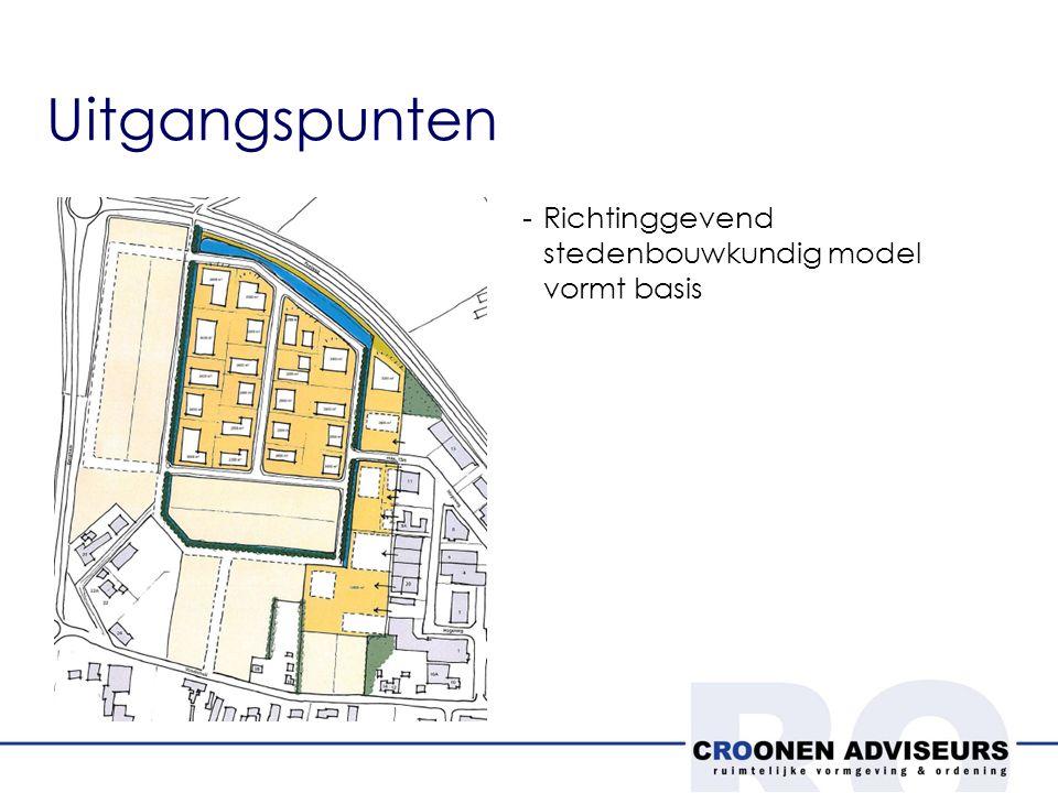 Uitgangspunten -Richtinggevend stedenbouwkundig model vormt basis