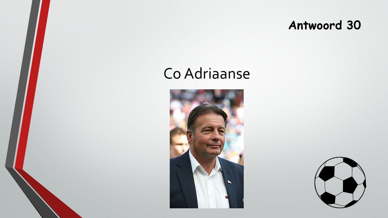 Antwoord 30 Co Adriaanse