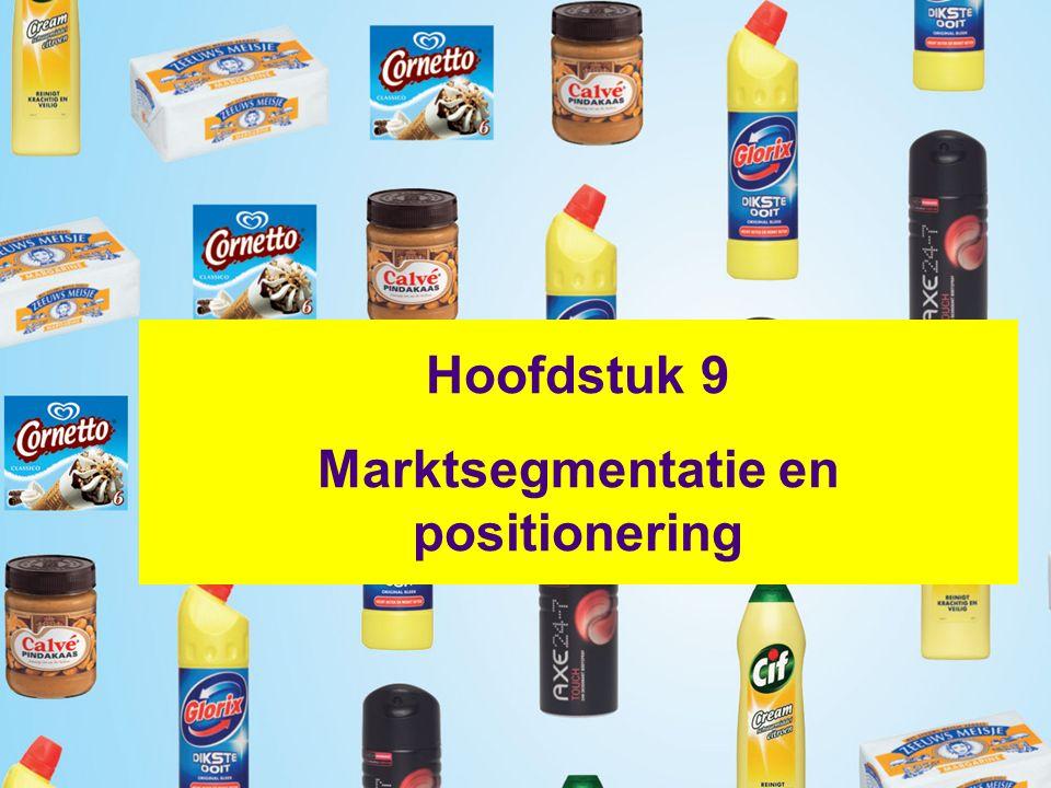 Hoofdstuk 9 Marktsegmentatie en positionering