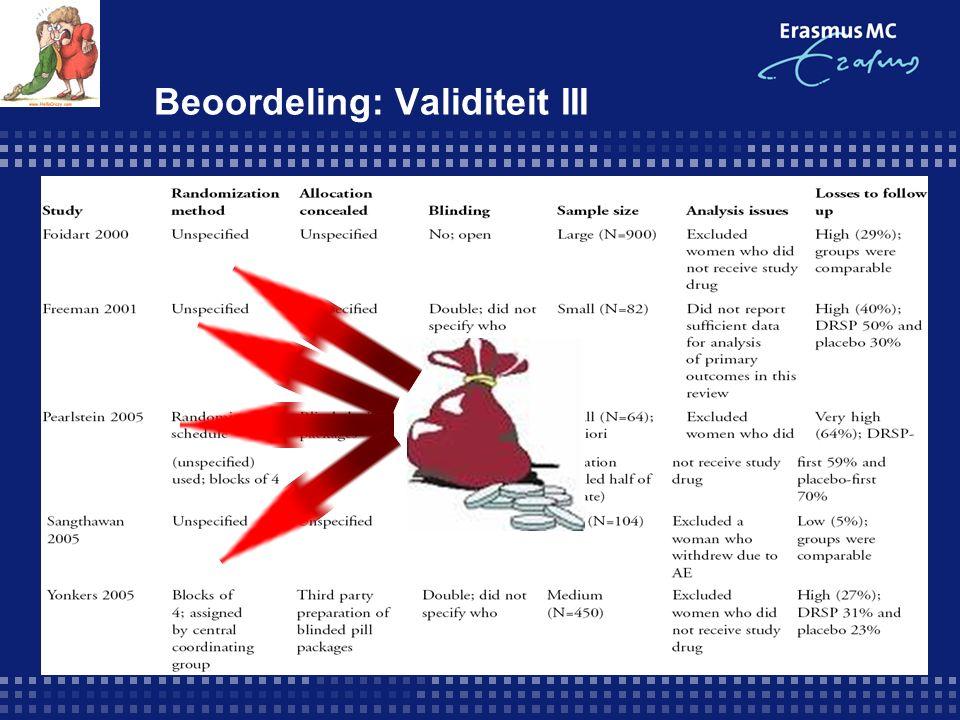 Beoordeling: Validiteit III