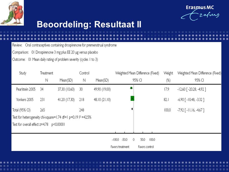 Beoordeling: Resultaat II