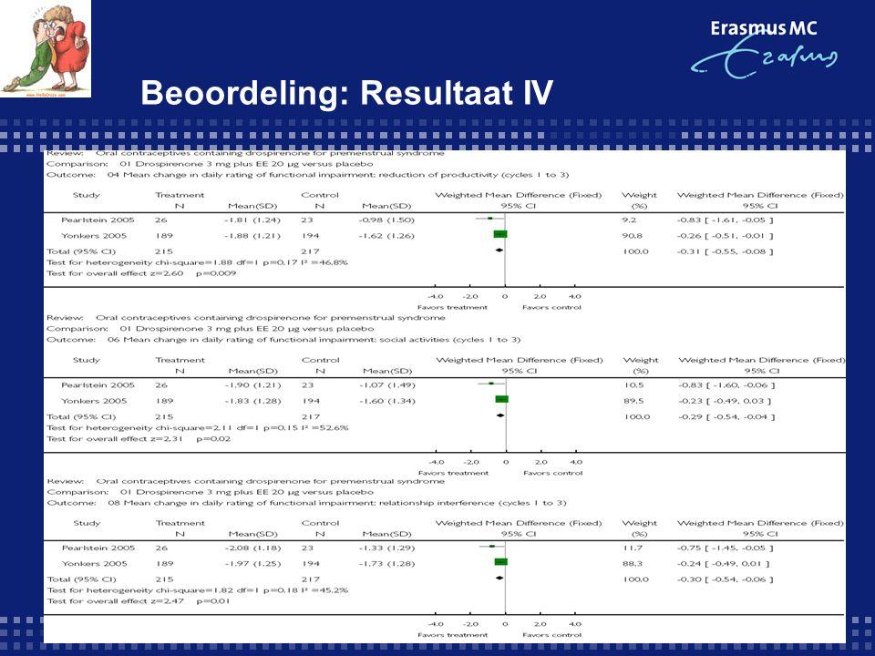 Beoordeling: Resultaat IV