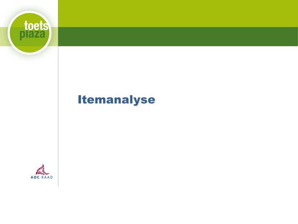 Itemanalyse