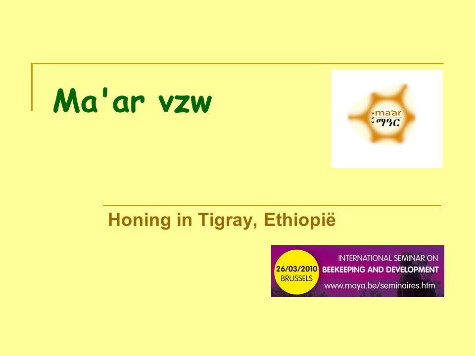 Ma ar vzw Honing in Tigray, Ethiopië