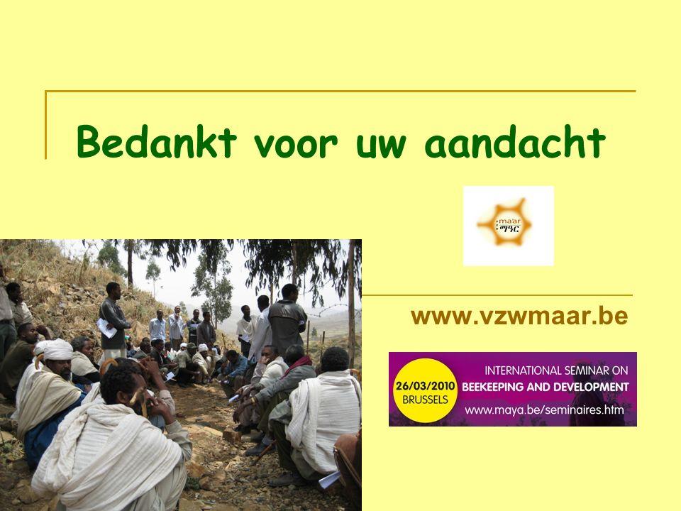 Bedankt voor uw aandacht www.vzwmaar.be