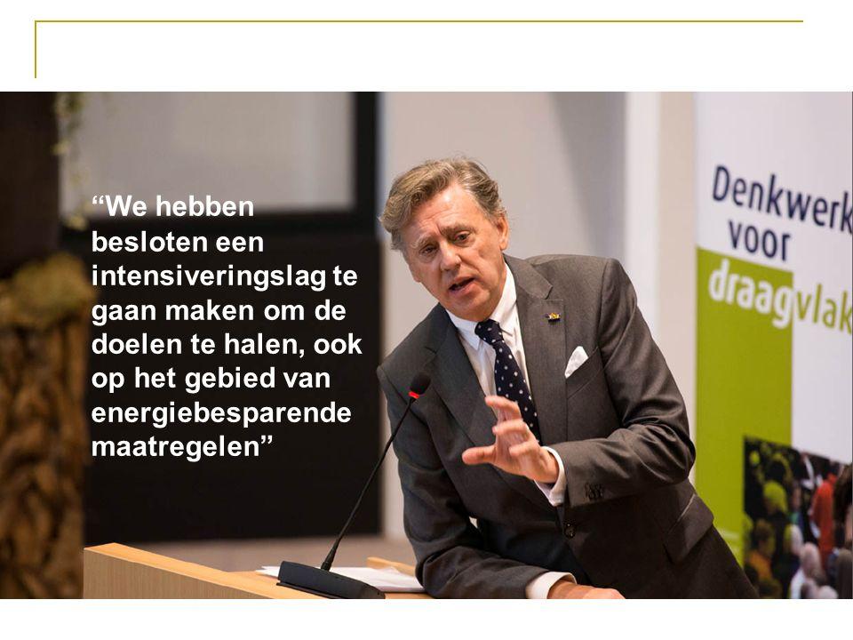 We hebben besloten een intensiveringslag te gaan maken om de doelen te halen, ook op het gebied van energiebesparende maatregelen