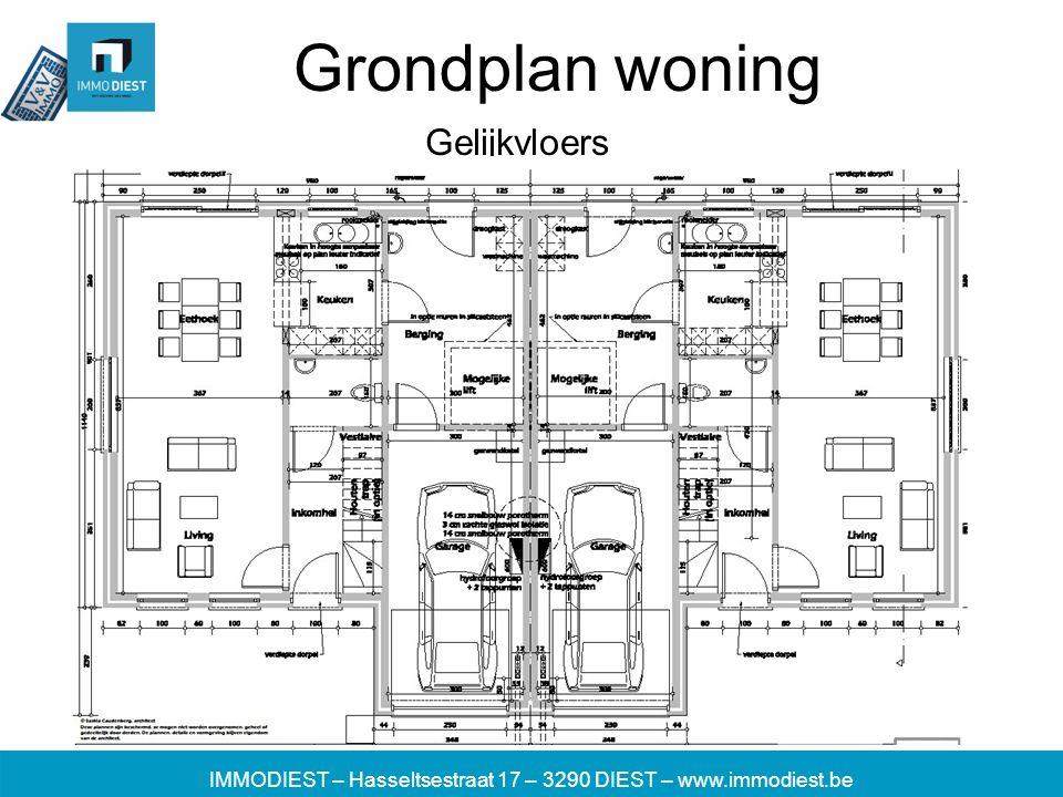 IMMODIEST – Hasseltsestraat 17 – 3290 DIEST – www.immodiest.be Grondplan woning Gelijkvloers