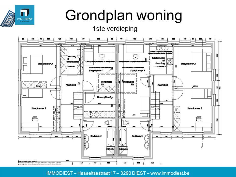 IMMODIEST – Hasseltsestraat 17 – 3290 DIEST – www.immodiest.be Grondplan woning 1ste verdieping