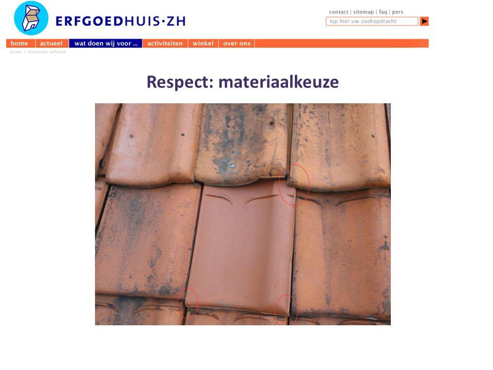 Respect: materiaalkeuze