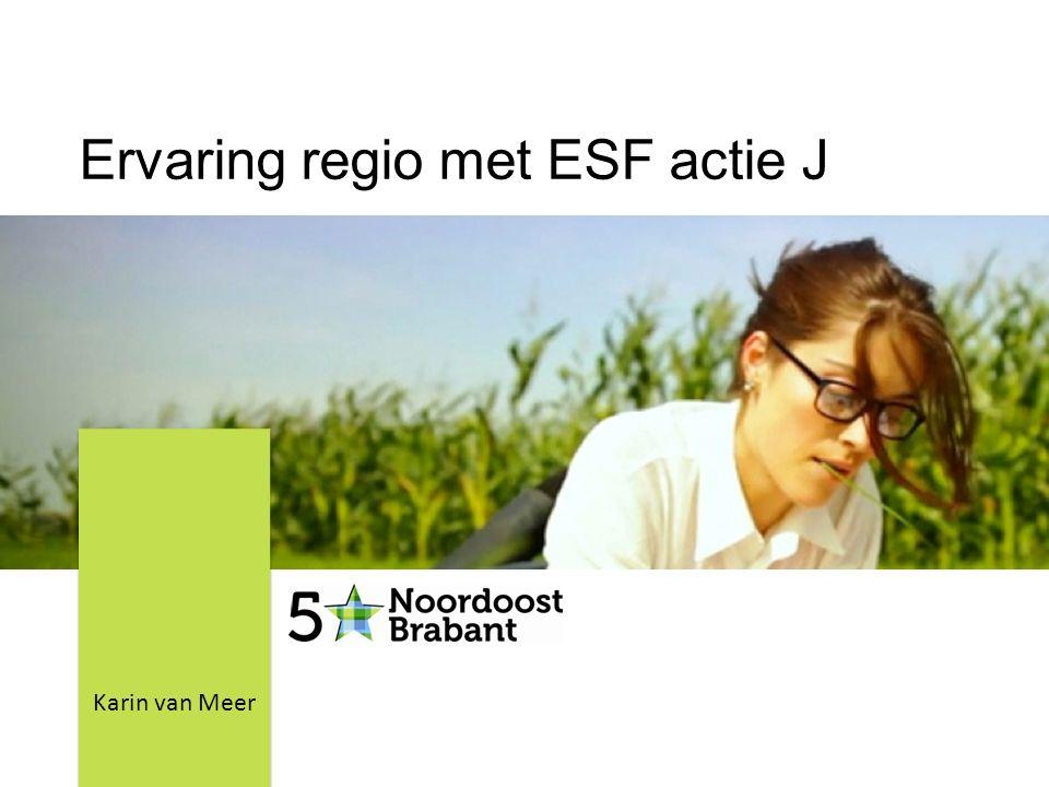 Ervaring regio met ESF actie J Karin van Meer