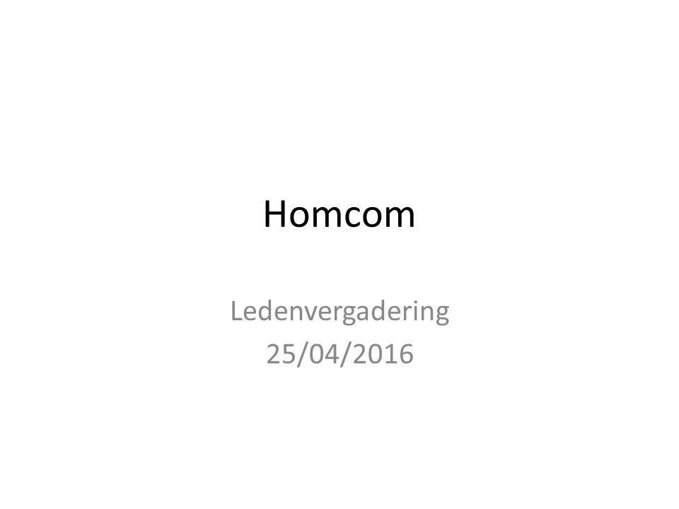 Homcom Ledenvergadering 25/04/2016