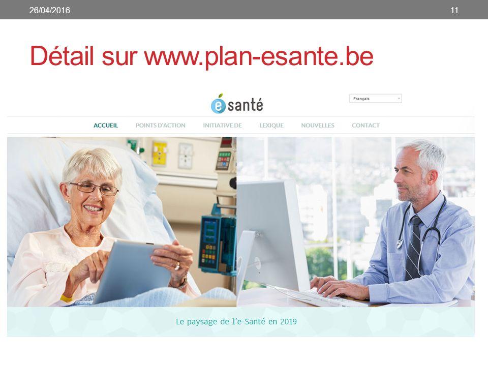 Détail sur www.plan-esante.be 1126/04/2016
