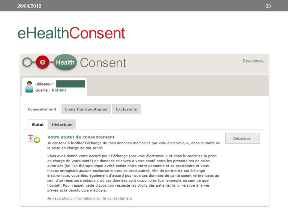 eHealthConsent 3326/04/2016