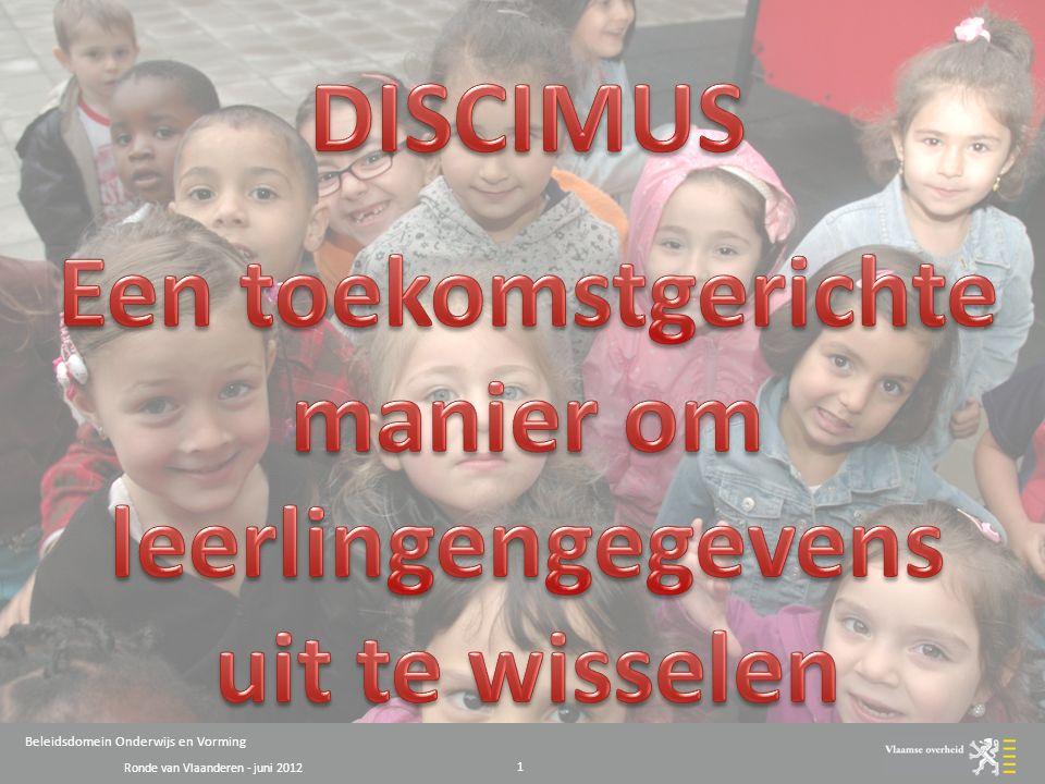 Ronde van Vlaanderen - juni 2012 Beleidsdomein Onderwijs en Vorming 1