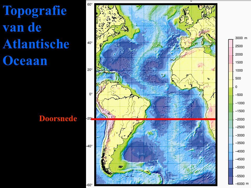 Topografie van de Atlantische Oceaan Doorsnede