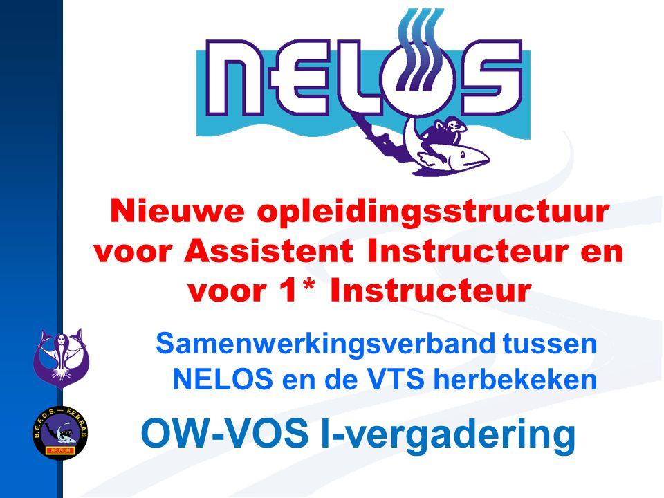 Nieuwe opleidingsstructuur voor Assistent Instructeur en voor 1* Instructeur Samenwerkingsverband tussen NELOS en de VTS herbekeken OW-VOS I-vergadering