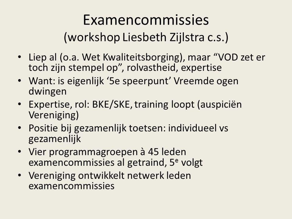 Examencommissies (workshop Liesbeth Zijlstra c.s.) Liep al (o.a.