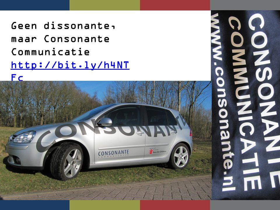 Geen dissonante, maar Consonante Communicatie http://bit.ly/h4NT Fc http://bit.ly/h4NT Fc
