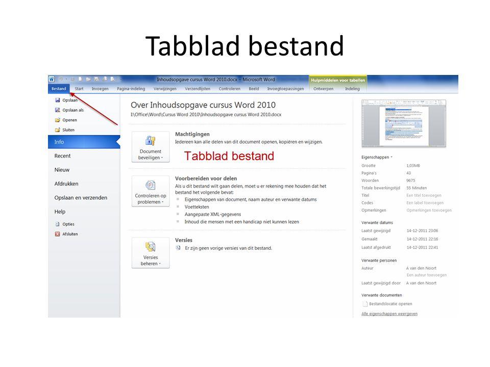 Tabblad start