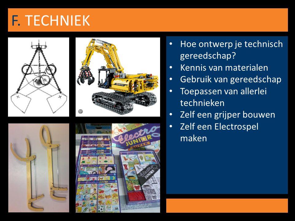 F. TECHNIEK Hoe ontwerp je technisch gereedschap.