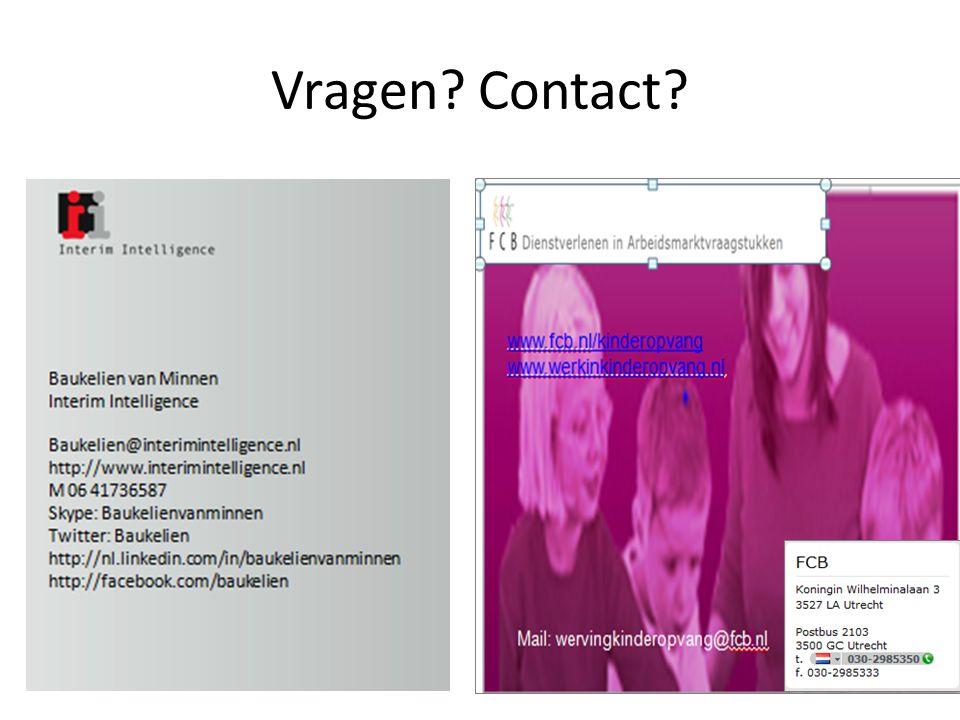 Vragen? Contact?