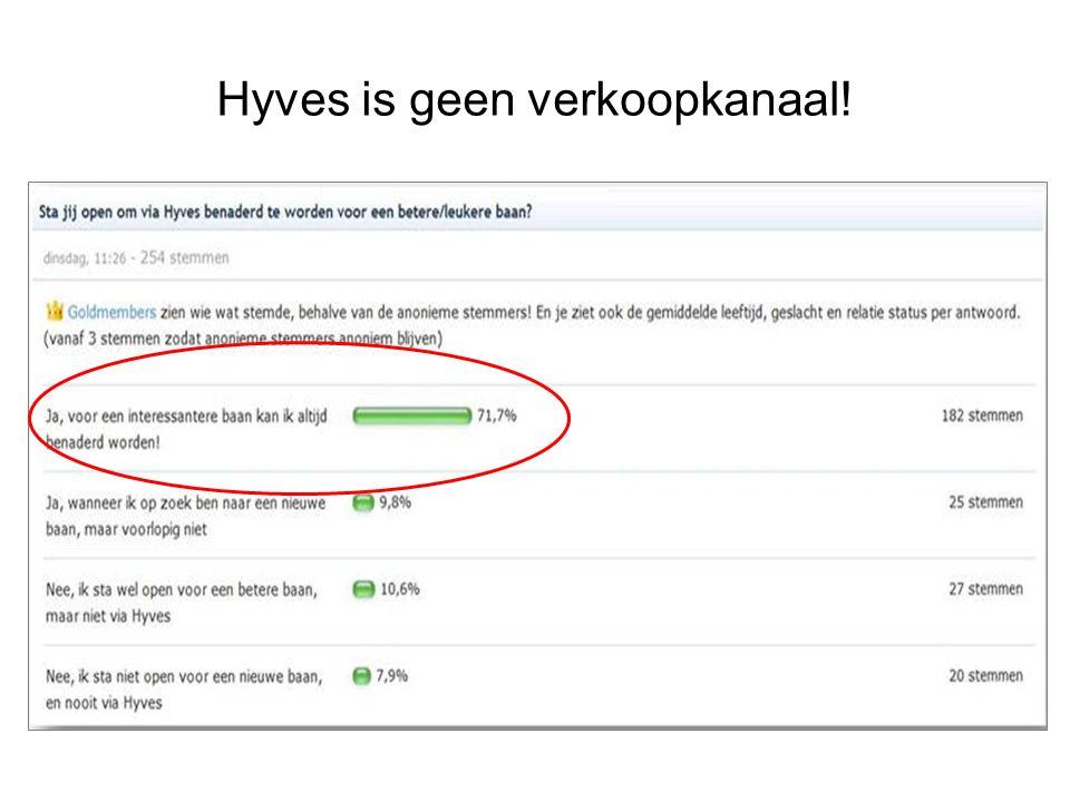 Hyves is geen verkoopkanaal!