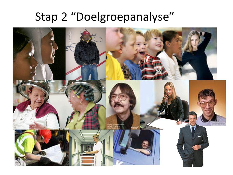 "Stap 2 ""Doelgroepanalyse"""