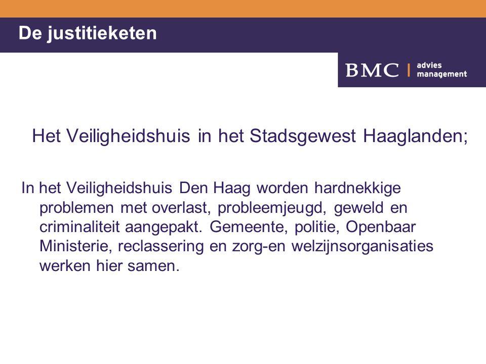 De justitieketen Het Veiligheidshuis in het Stadsgewest Haaglanden; In het Veiligheidshuis Den Haag worden hardnekkige problemen met overlast, probleemjeugd, geweld en criminaliteit aangepakt.