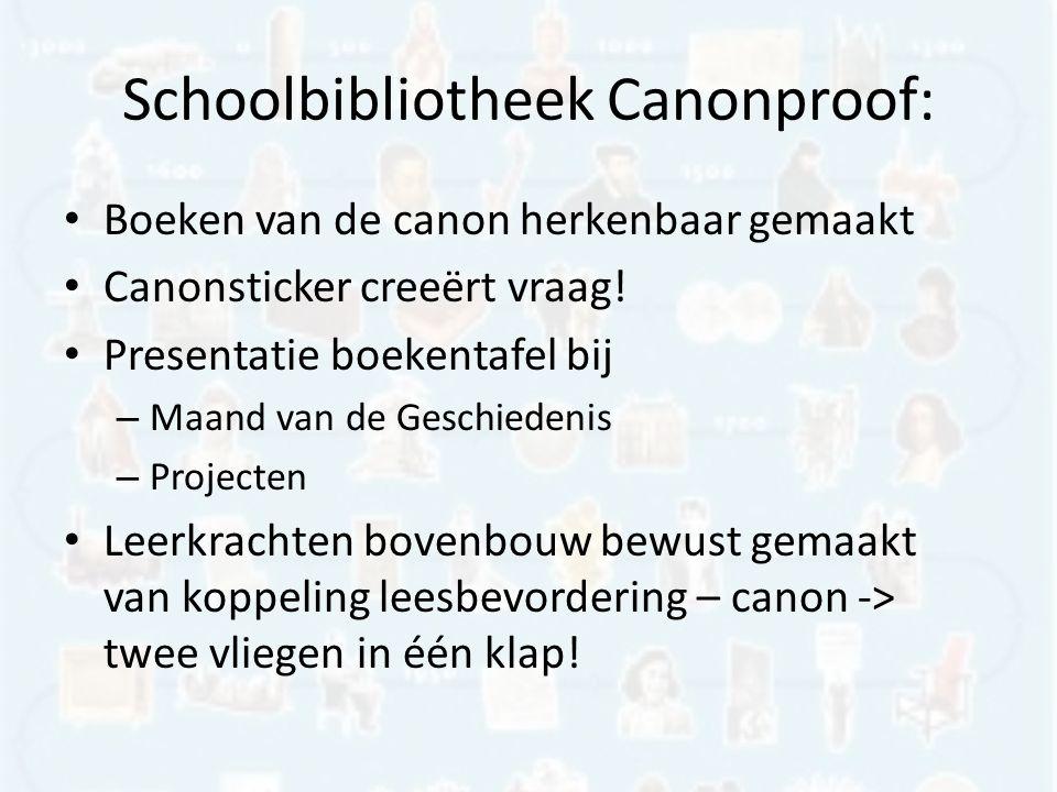 Schoolbibliotheek Canonproof: Boeken van de canon herkenbaar gemaakt Canonsticker creeërt vraag.