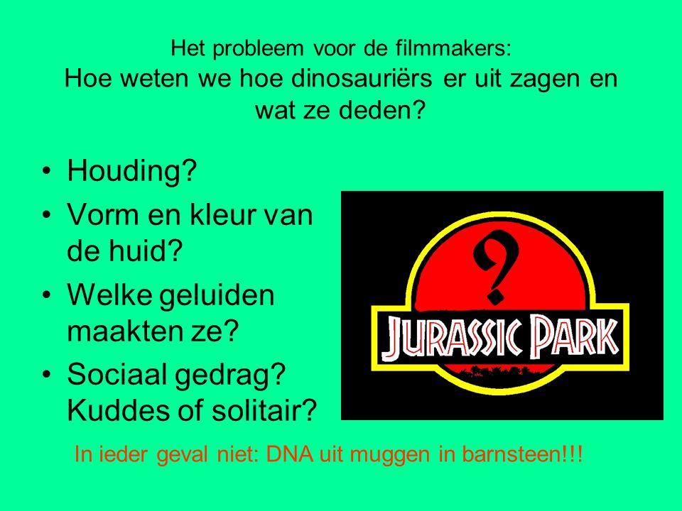 Het probleem voor de filmmakers: Hoe weten we hoe dinosauriërs er uit zagen en wat ze deden? Houding? Vorm en kleur van de huid? Welke geluiden maakte