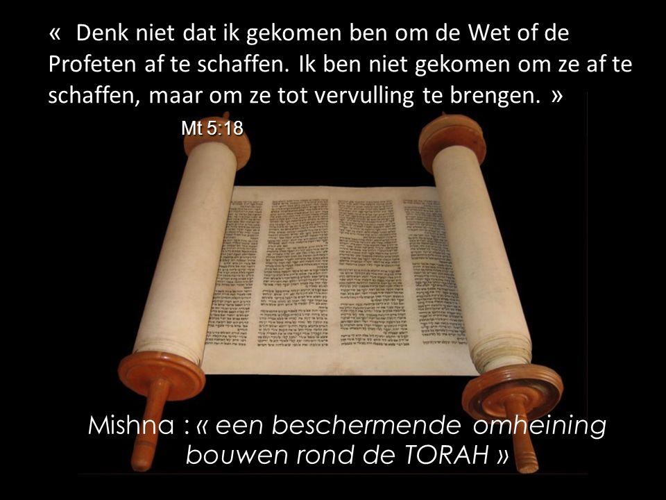 « » Mt 5:18 « Denk niet dat ik gekomen ben om de Wet of de Profeten af te schaffen.