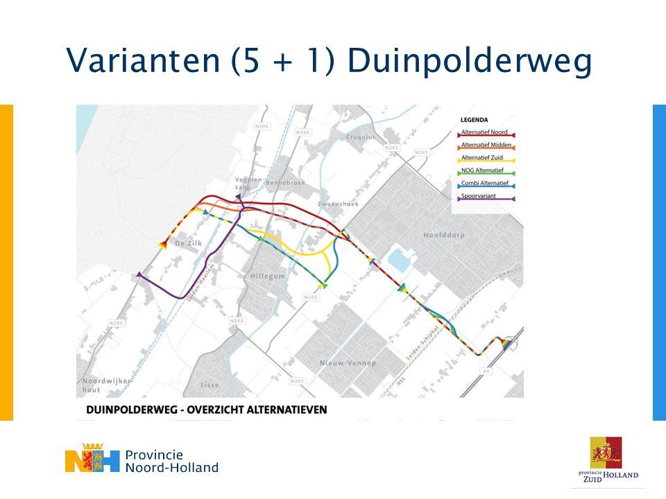 Varianten (5 + 1) Duinpolderweg