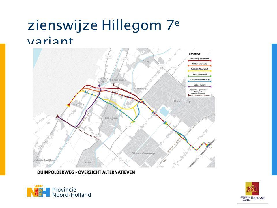 zienswijze Hillegom 7 e variant