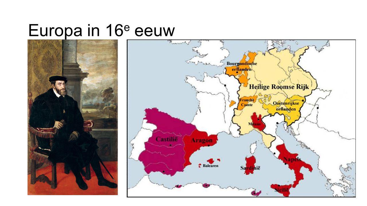 Europa in 16 e eeuw
