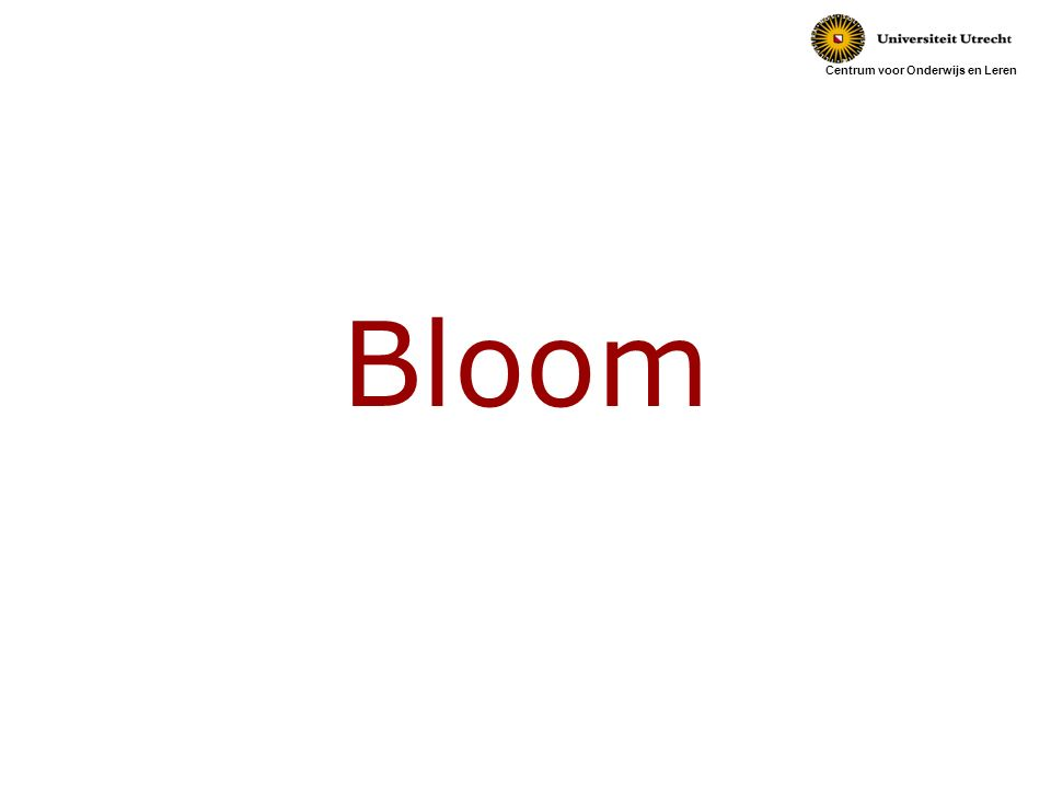 Centrum voor Onderwijs en Leren Bloom